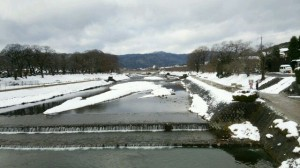 2015お正月の賀茂川